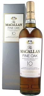 The Macallan Fine Oak Scotch Single Malt 10 Year 750ml
